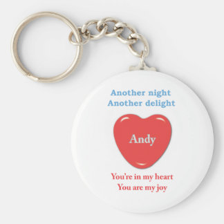 Another night another delight Andy wo racecars Keychain