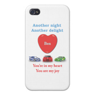 Another night another delight Ben w racecars iPhone 4 Covers