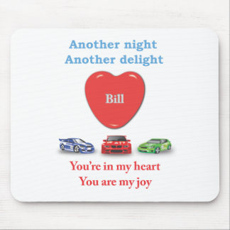 Another night another delight Bill.ai Mouse Pad