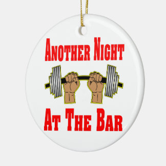 Another Night At The Bar Weightlifting #3 Double-Sided Ceramic Round Christmas Ornament