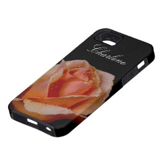 Another Orange Rose on Black iPhone 5 Cover