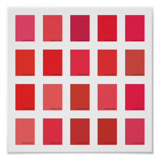 Another Red Color Picker Poster Zazzle