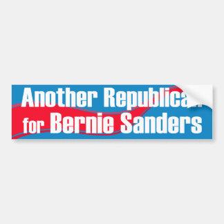 Another Republican for Bernie Sanders Car Bumper Sticker