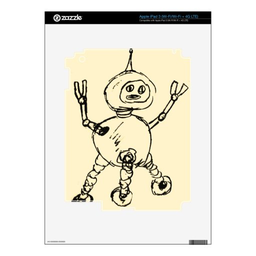 Another robot Doodle iPad 3 Decal