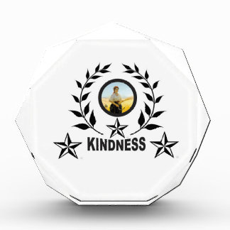 another round for kindness acrylic award