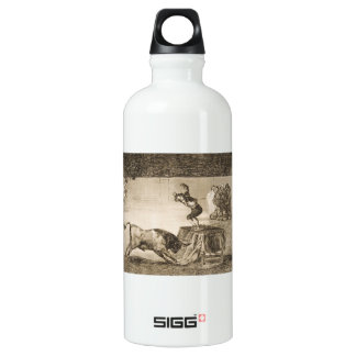 Another Stunt by Martincho in the Same Ring Goya Aluminum Water Bottle