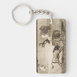 Another Stunt by Martincho in the Same Ring Goya Keychain