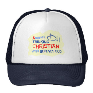 Another Thinking Christian Gift Design Trucker Hats