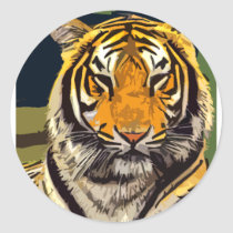 another tiger classic round sticker
