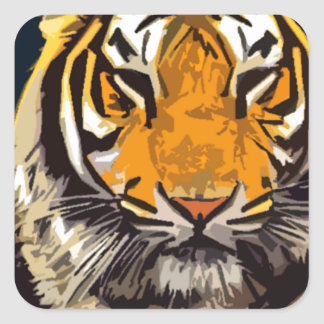 another tiger square sticker