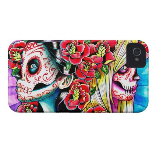 Another Time And Place Sugar Skull Girl iPhone 4 Case-Mate Case