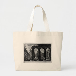 Another view of the facade of the pronaos Giovanni Large Tote Bag