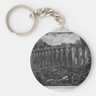 Another View of the Temple in the city of Paestum, Keychain