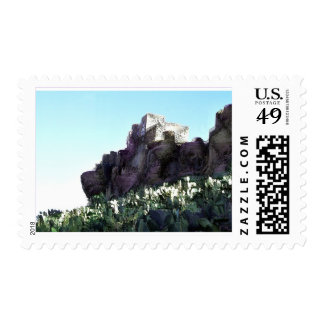 another village on the rock in yemen postage