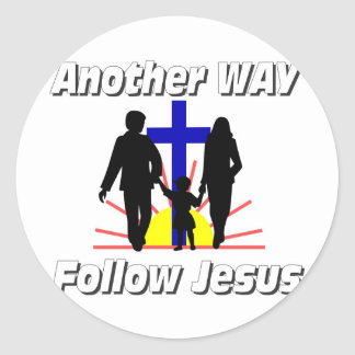 Another Way, Follow Jesus Classic Round Sticker