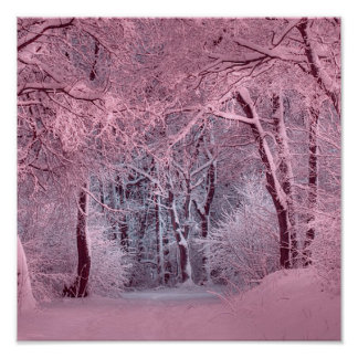 another winter wonderland pink poster