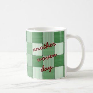 Another Woven Day Green Coffee Mug