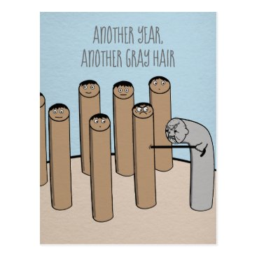 USA Themed Another Year Gray Hair Funny Old Birthday Card