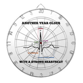 Another Year Older With A Strong Heartbeat ECG/EKG Dartboard With Darts