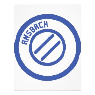 Ansbach blauer Stempel Custom Letterhead