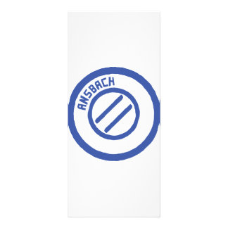 Ansbach blauer Stempel Personalized Rack Card