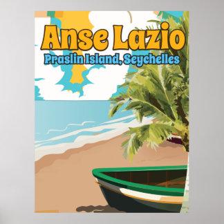 Anse Lazio Praslin Island, Seychelles Poster