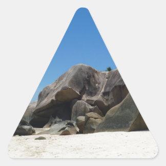 anse source d'argent triangle sticker