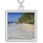 Anse Victorin Beach 2 Square Pendant Necklace