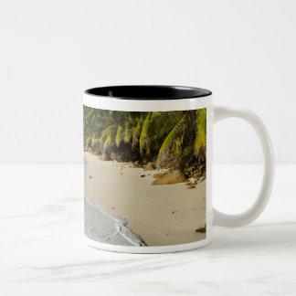 Anse Victorin Beach 2 Two-Tone Coffee Mug