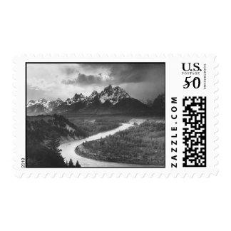 Ansel Adams Beautiful Wyoming Postage Stamp