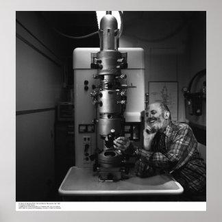 Ansel Adams con el microscopio electrónico, abril  Posters