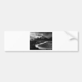 Ansel Adams el Tetons y el río Snake Pegatina Para Auto