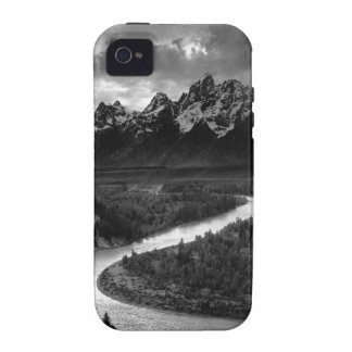 Ansel Adams el Tetons y el río Snake iPhone 4 Fundas