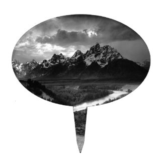 Ansel Adams The Tetons and the Snake River Cake Toppers