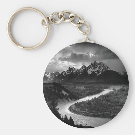 Ansel Adams The Tetons and the Snake River Key Chains