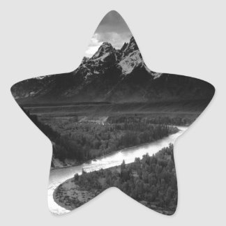 Ansel Adams The Tetons and the Snake River Star Sticker