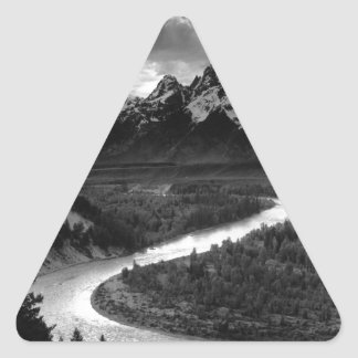 Ansel Adams The Tetons and the Snake River Triangle Sticker