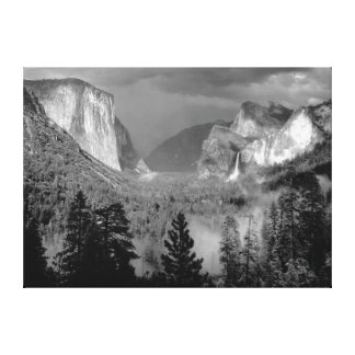 ANSEL ADAMS - Yosemite Valley, Thunderstorm (1949) Canvas Print