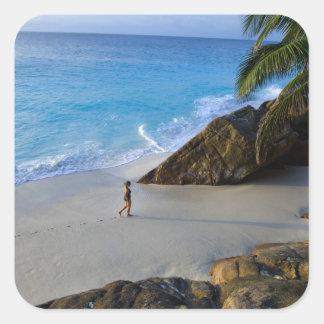 Ansi Victorin Beach, Fregate Island Square Sticker