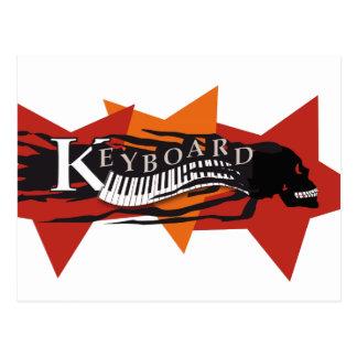 "ansichtkaart ""Keyboard"" schedel Wenskaart"