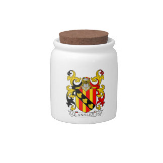 Ansley Coat of Arms Candy Jar