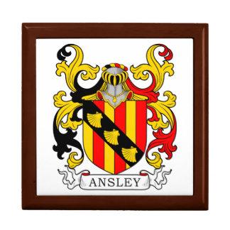 Ansley Coat of Arms Keepsake Boxes