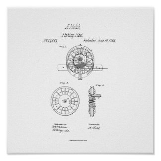 Anson Hatch Fishing Reel Patent  Print