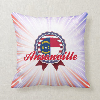 Ansonville, NC Throw Pillow