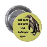 Anstecknadel pingüino 01 pin redondo de 2 pulgadas