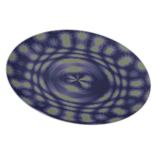Anstract Art Fantasy Stars Party Plate