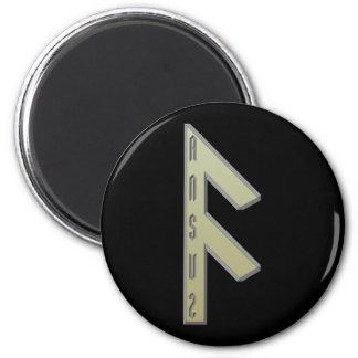 Ansuz Rune gold Magnet