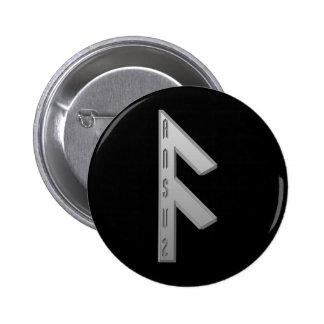 Ansuz Rune grey Pinback Button