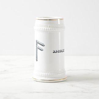 Ansuz rune Odin's, symbol Beer Stein