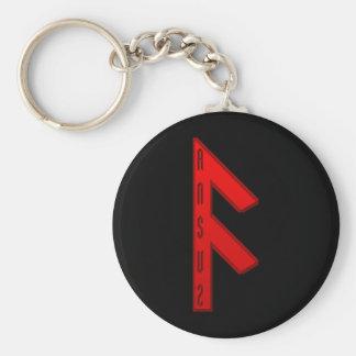 Ansuz Rune red Keychain